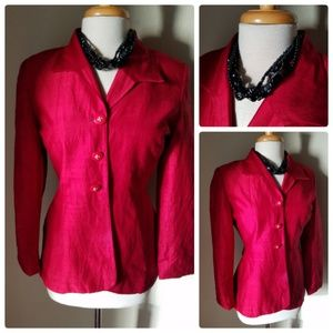 Saville Suit Petite Red Silk Blazer Jacket